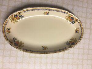 Vintage Royal Ivory John Maddock & Sons Oval Serving Plate