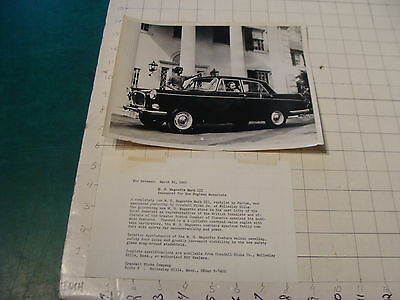 vintage Original auto dealership Photo: 1959 MG Magnette Mark III w info