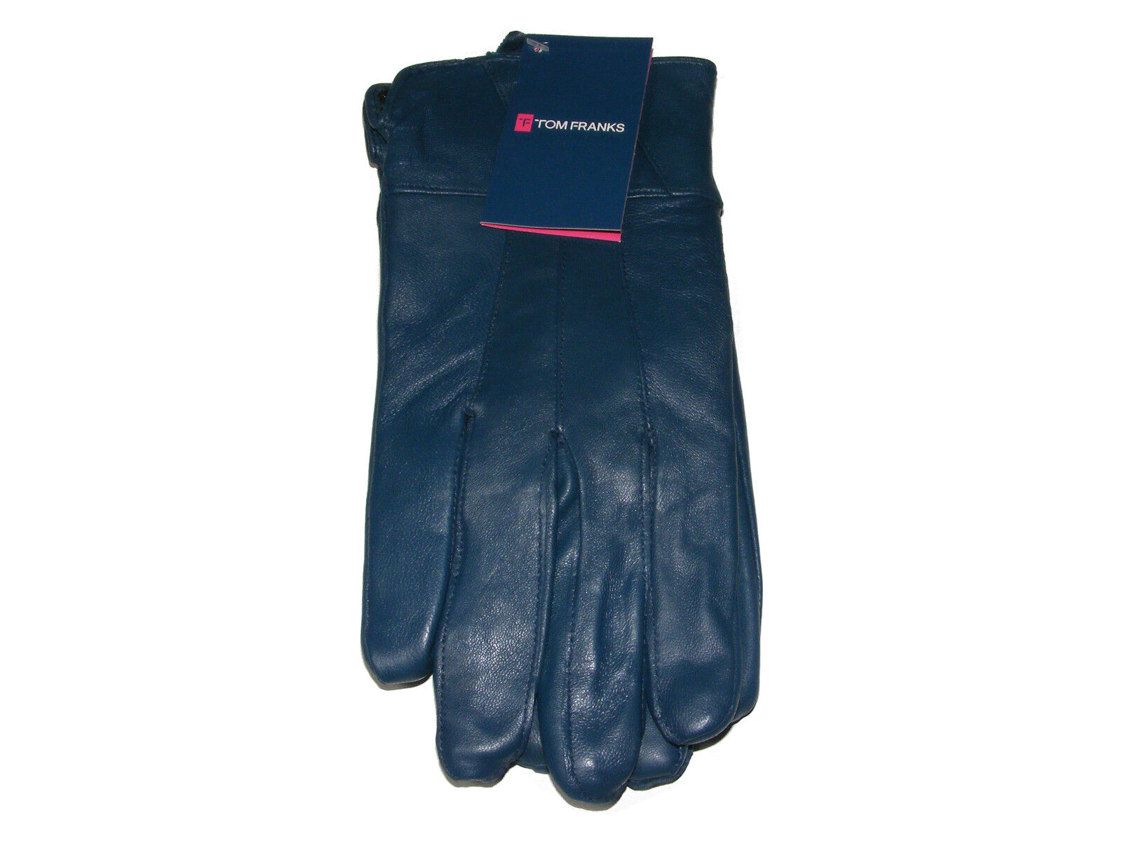 Ladies leather gloves blue - Womens Ladies Medium Large Dark Blue Navy Blue Soft Genuine Leather Gloves