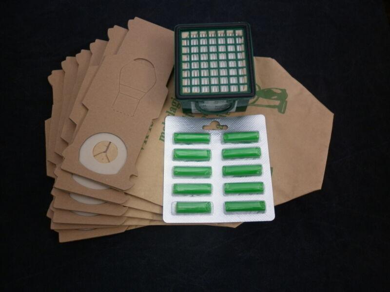 1 Filter geeignet Vorwerk Kobold 140 150 12 Filtertüten Beutel Vlies 12 Duft