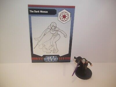 Star Wars Miniatures - The Dark Woman 13/40 + Card - Very Rare - Jedi Academy