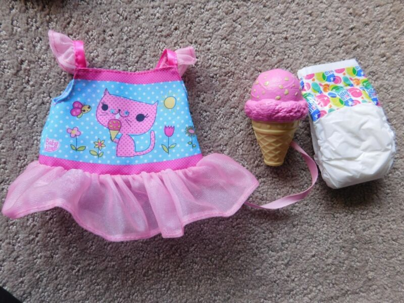 Hasbro Baby Alive Yummy Treats Baby Doll Dress w/ Ice Cream Cone