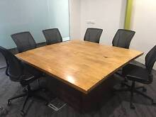 Square Wooden Table Top with base North Melbourne Melbourne City Preview