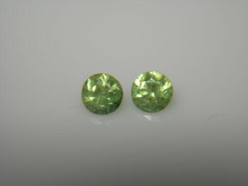 2 very rare Demantoid Garnet gems Black Lake Mine Quebec Canada green andradite