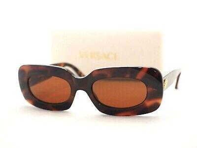 96a64d4bb2 Gianni Versace brown 416 sunglasses vintage oval rectangular medusa head  gold
