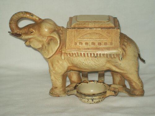 Antique ~ Cast Iron Mechanical Elephant Cigarette Dispenser ~ Circa 1920