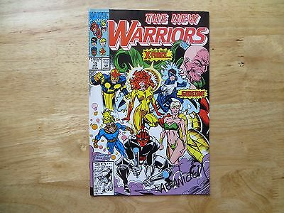 1992 MARVEL THE NEW WARRIORS # 19 GIDEON FROM X-FORCE SIGNED FABIAN NICIEZA, POA