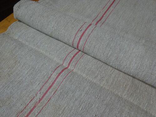 Antique European Feed Sack GRAIN SACK Red Stripes # 10442