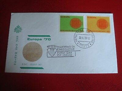 SAN MARINO - 1970 EUROPA - FIRST DAY COVER