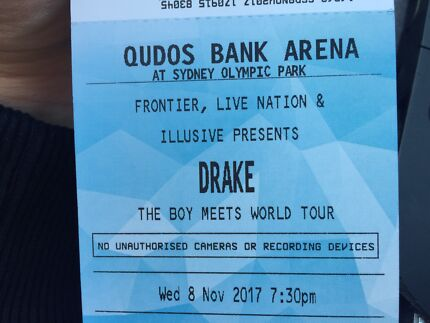 2x Drake day one VIP general admission standing package