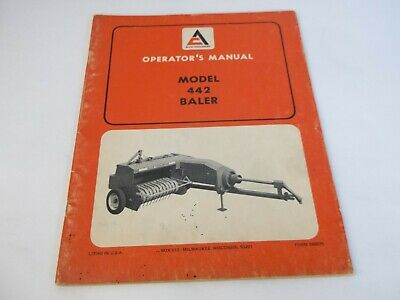 Allis-chalmers Model 442 Baler Operators Manual