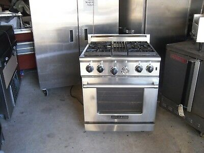 Used 30 American 4 Burner Gas Range Oven With Griddle Top Accessory. Aar 3041