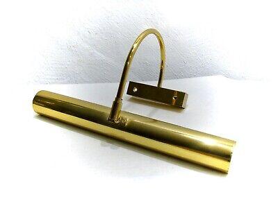 Bilderleuchte Vintage Messing brüniert Wandlampe verstellbar B.33cm Antik Stil