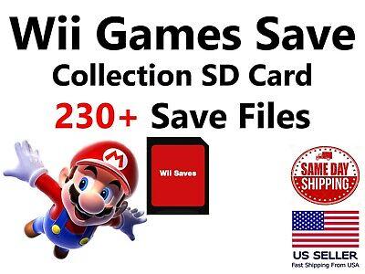 Unlocked Nintendo Wii SD Memory Card 230+ Saves Smash Mario Kart Mario Party