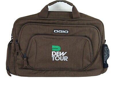 "Ogio DEW TOUR Skateboard Special Ed Messenger 17"" Laptop Bag Brown NO STRAP"