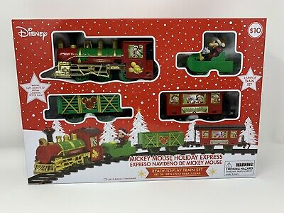 Disney Mickey Mouse Holiday Express 12 Piece Christmas Train Set NEW Fast