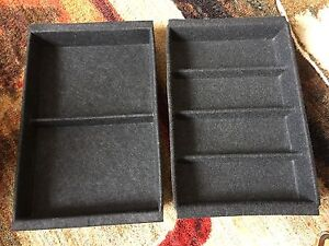 Ikea Besta drawer unit INSERTS (Inreda) in black strong felt