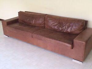 2x genuine leather couches Mosman Park Cottesloe Area Preview