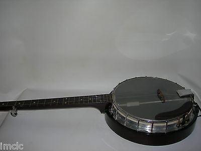Vintage 5 String BANJO~Transparent/Clear Head~with Case~very nice Sound