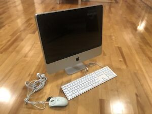 Apple iMac 20 inch with keyboard and mouse