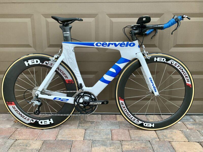 Cervlo P2 Carbon Triathlon Road Bike, 51cm, Shimano, HED Stinger Carbon Wheels