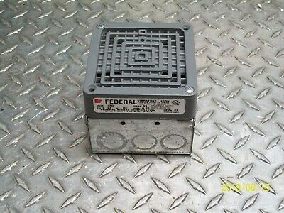 Federal Signal 450 Vibratone Horn Series B3 24v With Surface Mounting Box