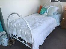 Designer metal bed, single, with lots of quality bedding Gordon Ku-ring-gai Area Preview