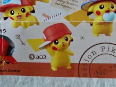 JAPAN Pokemon Center Limited Gashapon Ash's PIKACHU Figure 5 Kalos ver.