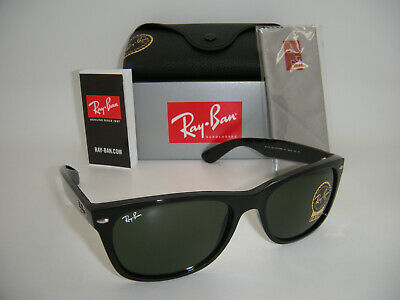 New Authentic Ray-Ban RB 2132 901 52MM Shiny Black / Crystal (Rb2132 901 52)