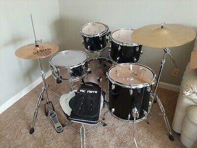 Gretsch Drums BlackHawk 11 Piece Drum Set Plus Cymbals and Stool