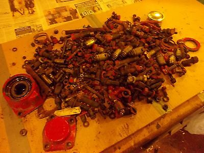 Massey Harris 22 Tractor Original Mh Box Of Nuts Bolts Parts Pieces