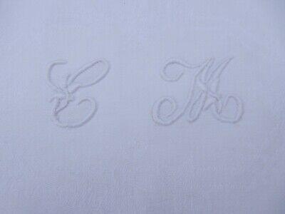 1900 ERA BELLE EPOCH  MONOGRAMMED TOWEL INITIAL CM  VINTAGE LINEN HAND TOWEL ,m