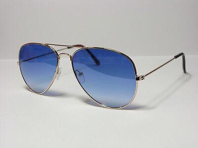 Top moderne Sonnenbrille Sunglasses Pilotenbrille P189 Blau Verlauf UV 400 NEU !