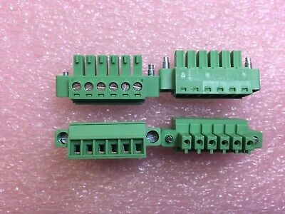 Phoenix 1827745 Connector Terminal Block 6 Pos 3.81mm Pitch Plug 4 Pieces
