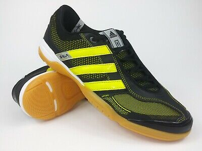 8051a58824b Adidas Mens Rare Top Sala X G17665 Black Yellow Indoor Soccer Shoes Size  10.5