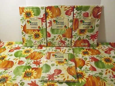 NIP Thanksgiving Fall Pumpkin Vinyl Flannel Backed Kitchen Party Tablecloth - Thanksgiving Parties