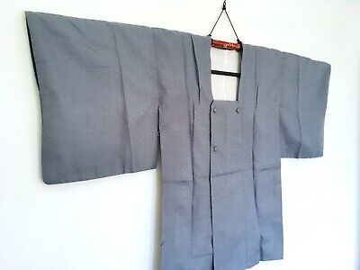 BUY IT NOW Vintage Japanese Kimono Coat FREE POSTAGE MIchiyuki Light Blue Grey