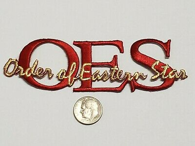 OES Signature Red/Gold Emblem Patch - 4.5