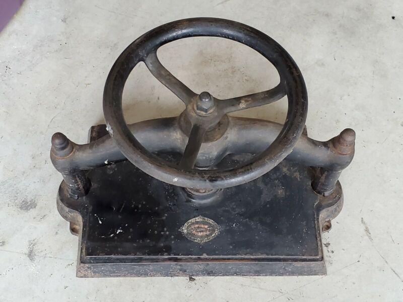 Antique Cast Iron Black Book Press