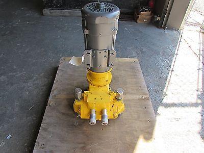 Milton Roy Stainless Controlled Volume Pump Fr261b-144 W Baldor Dc Motor Rebuilt