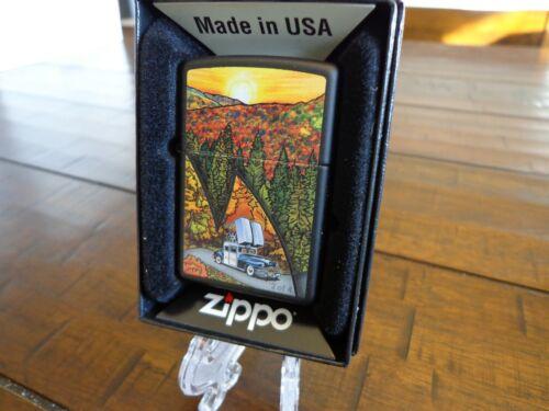 ZIPPO CAR IN FALL MOUNTAINS ZIPPO LIGHTER MINT IN BOX