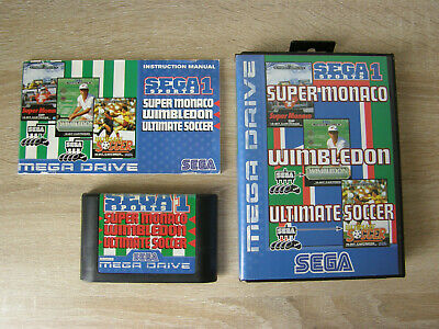 Sega Sports 1 (complete) - Sega Mega Drive - Monaco, Wimbledon, Soccer comprar usado  Enviando para Brazil