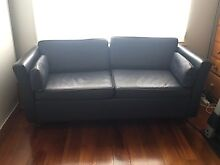 Leather sofa bed from Moran Brunswick West Moreland Area Preview