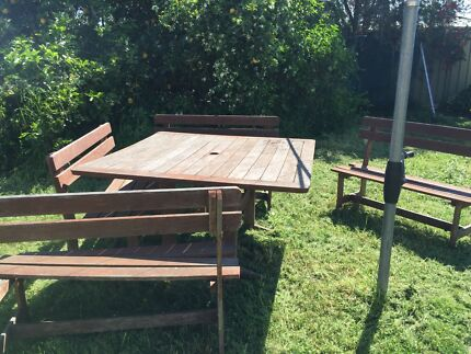 Jarrah outdoor setting Woodberry Maitland Area Preview