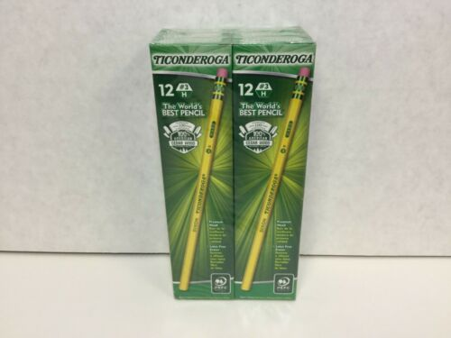 Ticonderoga Pencils, Wood-Cased #3 HB Hard/Fine, Yellow, 72 Total (13883)