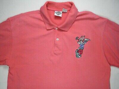 ACME Clothing Mens Polo Golf Shirt L Warner Bros Cartoon Bugs Bunny Looney Tunes