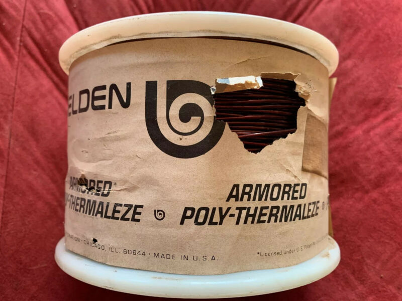 Belden 10 LBS Armored Poly Thermaleze Magnet Wire Spool 12AWG