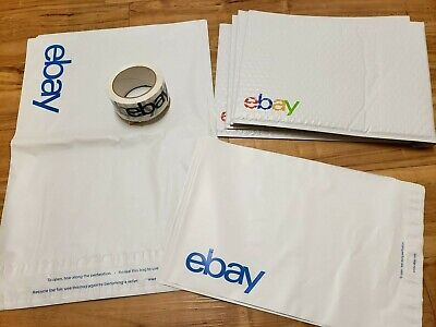 Ebay Branded Shipping Supplies Starter Pack Poly Envelopes Padded Airjacket Tape