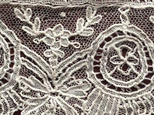 Belgian handmade Point de Venise needle lace study piece - with label