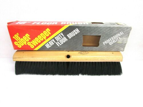 "NOS! MAGNOLIA 18"" FLOOR BROOM 3"" BLACK BRISTLES #1018"